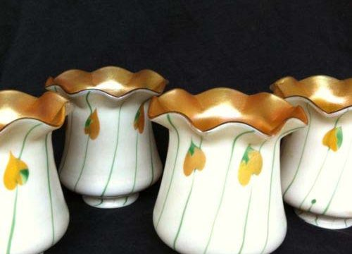 Fostoria Gold / Green Leaves, Set of 4