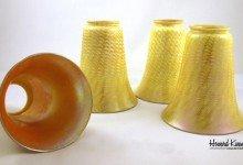 Fostoria Set of 4 Antique Art Glass Shade, Howard Kwan