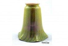 Fostoria Zipper Antique Art Glass Shade, Howard Kwan