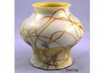 Steuben Candle Lamp Antique Art Glass Shade, Howard Kwan
