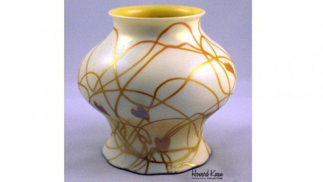 Steuben Candle Lamp Antique Art Glass Shade, Howard Kwan