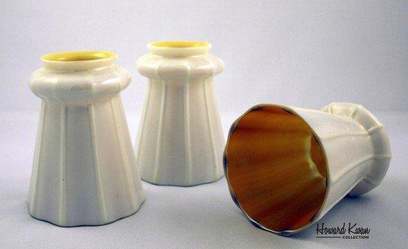 Steuben Set of 3 Antique Art Glass Shade, Howard Kwan